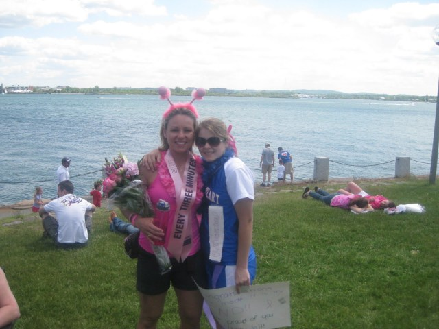 Ali and I at the end of  40 miles