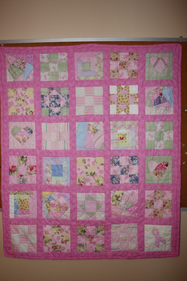 pink raffle quilt