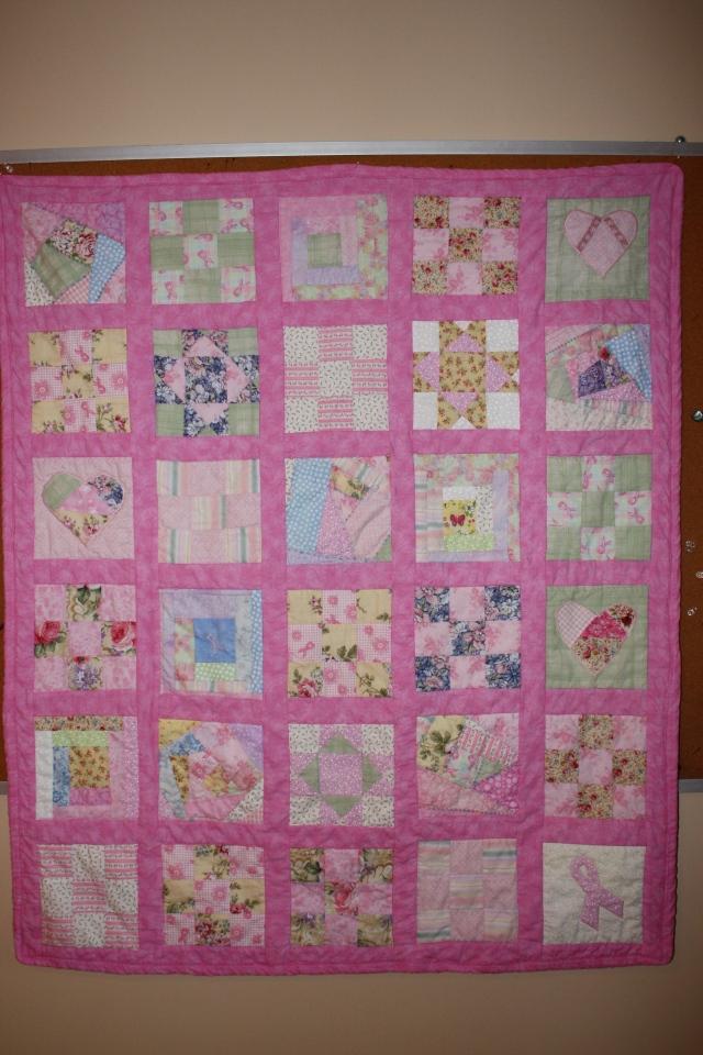 pink raffle quilt