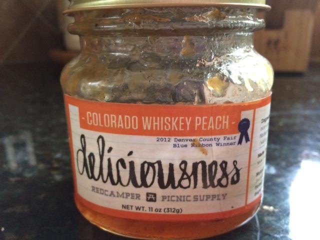 colorado peach whiskey jam